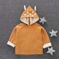 Novas crianças hoodies ponto impressão moletons crianças tops casacos crianças roupas das meninas dos meninos dos desenhos animados do bebê