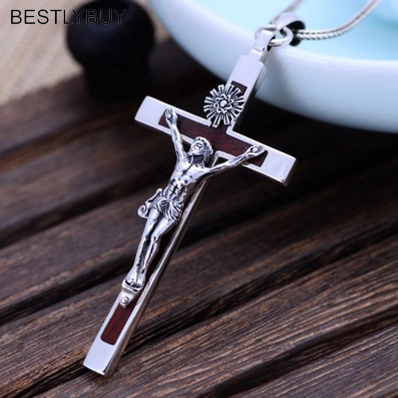 BESTLYBUY 925 Sterling Silver Cross Silver Ebony Cross Thailand Import Domineering Men Pendant Not Include Chain wholesales brs925 sterling silver silver cross cross men cross cross bracelet