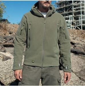 Image 5 - US Militare In Pile Tattico Uomini Giacca Termica Esterna Polartec Caldo Cappotto Con Cappuccio Militar Softshell Escursione Tuta Sportiva Esercito Giubbotti