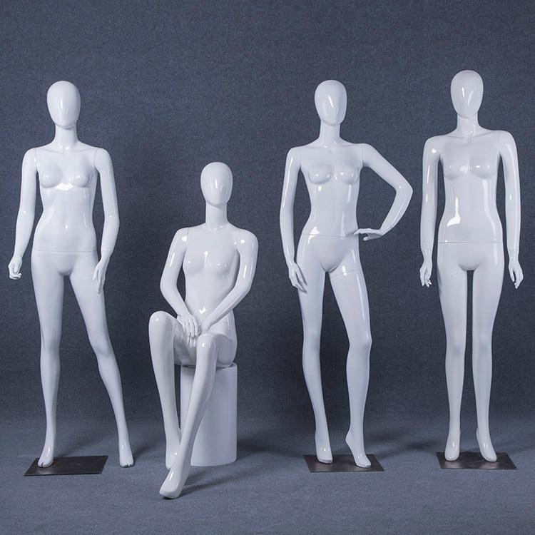 Top Level Best Quality Full Body Gloss White Female Mannequin Fiberglass Women Model For Sale mannequin