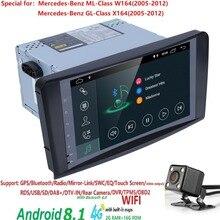 Оптовые продажи! 2Din 9 дюймов Android8.1 автомобиля NO-DVD плеер для Mercedes Benz/ML/GL CLASS W164 ML350 ML500 GL320 Canbus 4 GWifi gps радио