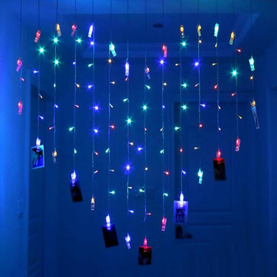 Coração Cortina de LED Luz Fada String