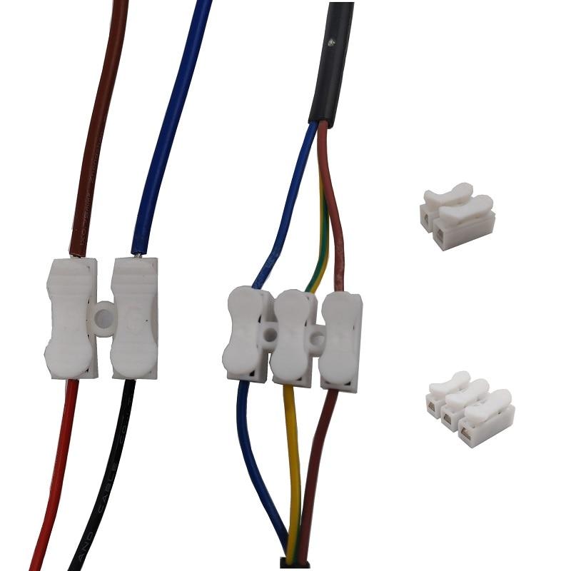 10pcs 30pcs 50pcs Lot 2 Pins 3Pins CH2 CH3 Electrical Cable Connectors CH2 CH3 Quick Splice Lock Wire Terminals 20x17.5x13.5mm