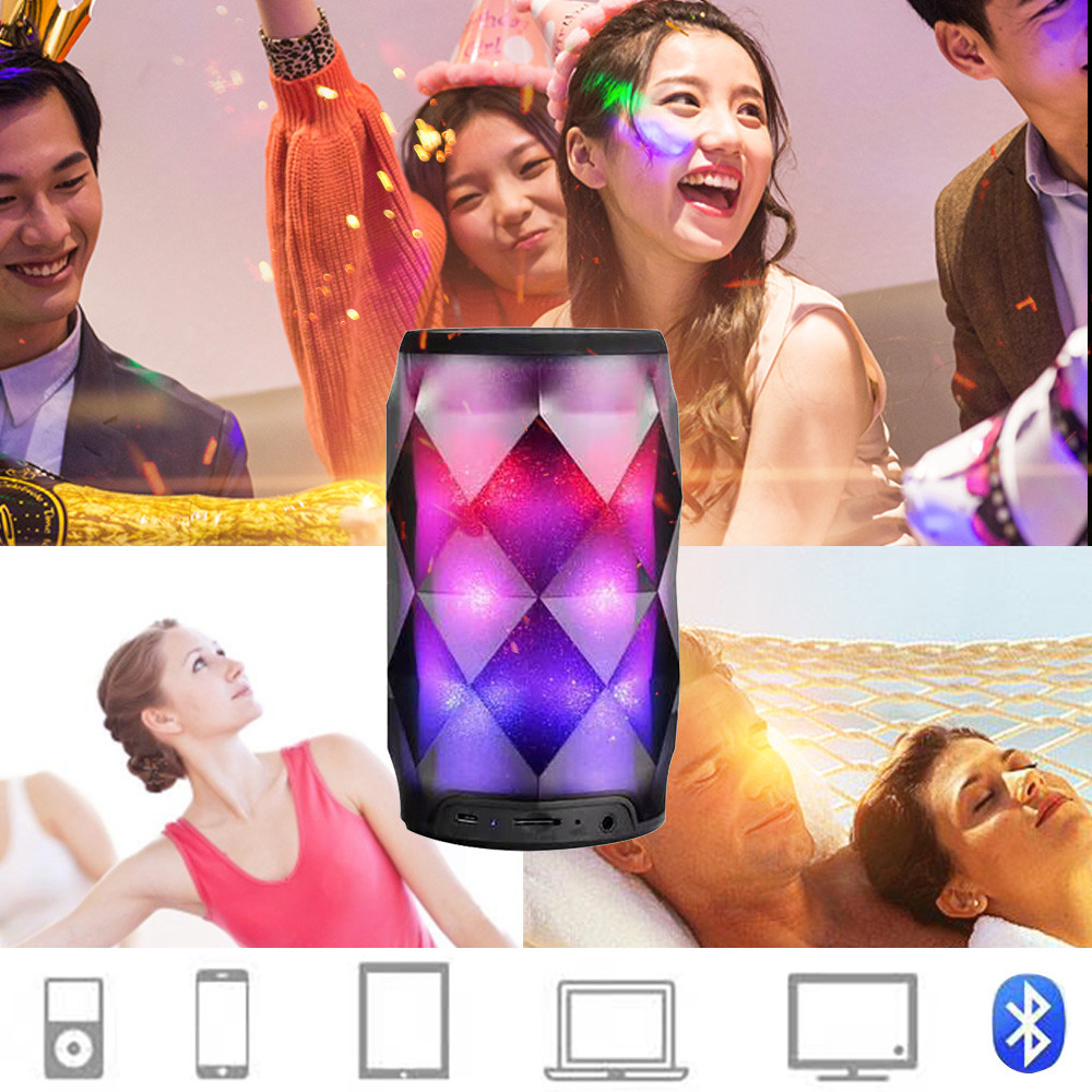 Portable Speakers LED Colorful Wireless Stereo Ball Speakers with Remote Control Better Bass SoundCore Water Resistance Portable