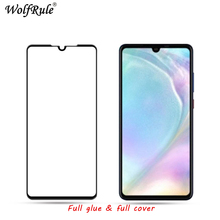 2pcs LCD Screen Protector Huawei P30 lite Full Glue Glass For Lite Cover Tempered Film
