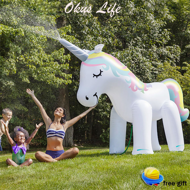 Summer Home Garden Set Animal Water Park Inflatable Outdoor Beach Toy Children Play Water Unicorn Spray Water Toy Family Game