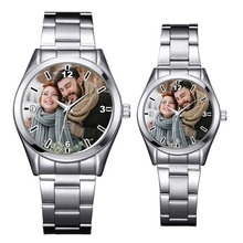 A3313 מותאם אישית לוגו שעון תמונה הדפסת שעונים שעון פנים הדפסת שעוני יד מותאם אישית ייחודי DIY מתנה לאוהבים
