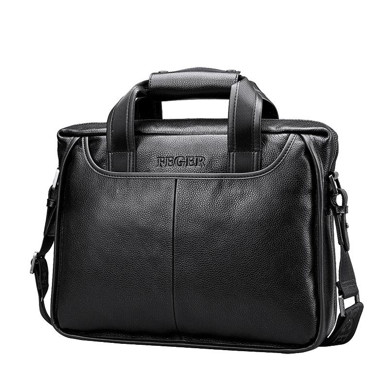 Men s Genuine Leather Shoulder Bag Brand Men Shoulder Bag Business Handbag Laptop Briefcase Male Crossbody