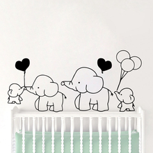 3D Elephant Home Decor Pvc Removable vinyl Stickers For Kids room Art Decals Bedroom Vinyl Mural Wall Sticker vinilo pared