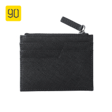 90FUN Concise Business Casual Billfold Long Wallet Coin Purse Card Holder Safiano Genuine Leather for Men Women Boy Girl