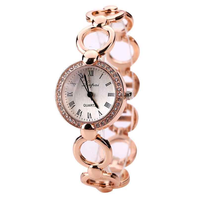 LVPAI, relojes de lujo de plata de oro rosa para mujer, reloj de cuarzo creativo para mujer, reloj femenino Bayan Kol Saati Relogio Feminino * 1218