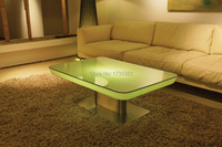 H56 Led Illuminated Furniture Dining Table For 4 People STUDIO LED Led Coffee Table For Bar