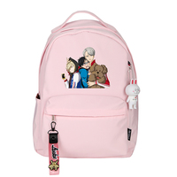 2019 Anime YURI on ICE Victor Nikiforov Cosplay Printing Backpack Candy Color Bagpack Canvas School Bags Laptop Backpack Rugzak