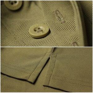 Image 4 - MEGE Dropshipping Men Polo Shirt Summer Tactical Air Force Casual Military Army short Shirt tee polos para hombre camisa polo