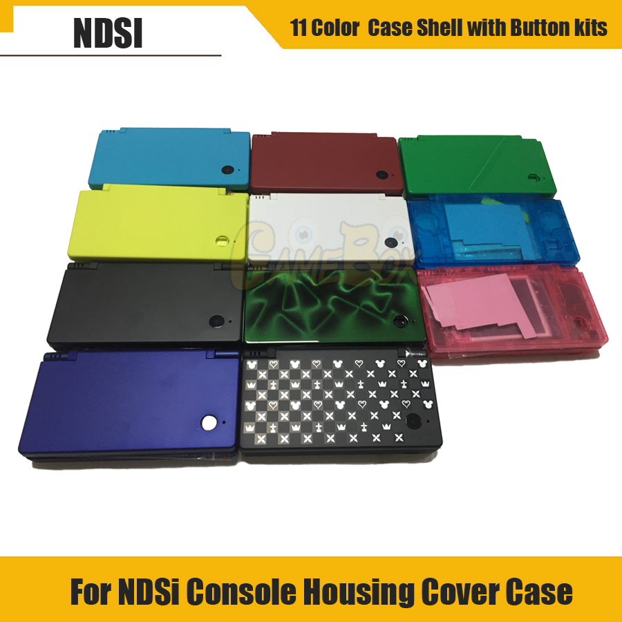 High Quality Full Housing Cover Shell Case for Nintend NDSi Console Shell Housing Cover Case for NDSi with Button kits