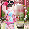 28cm China Ethnic Exquisite Ancient Costume Bjd Dolls LITTLE PEARL PRINCESS Dolls Movable Replaceable clothing Toys for Girls