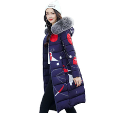 Обе стороны можно носить Зимняя куртка Для женщин с меховой воротник с капюшоном Для женщин пальто Длинная парка 2019 высокое качество женские парки