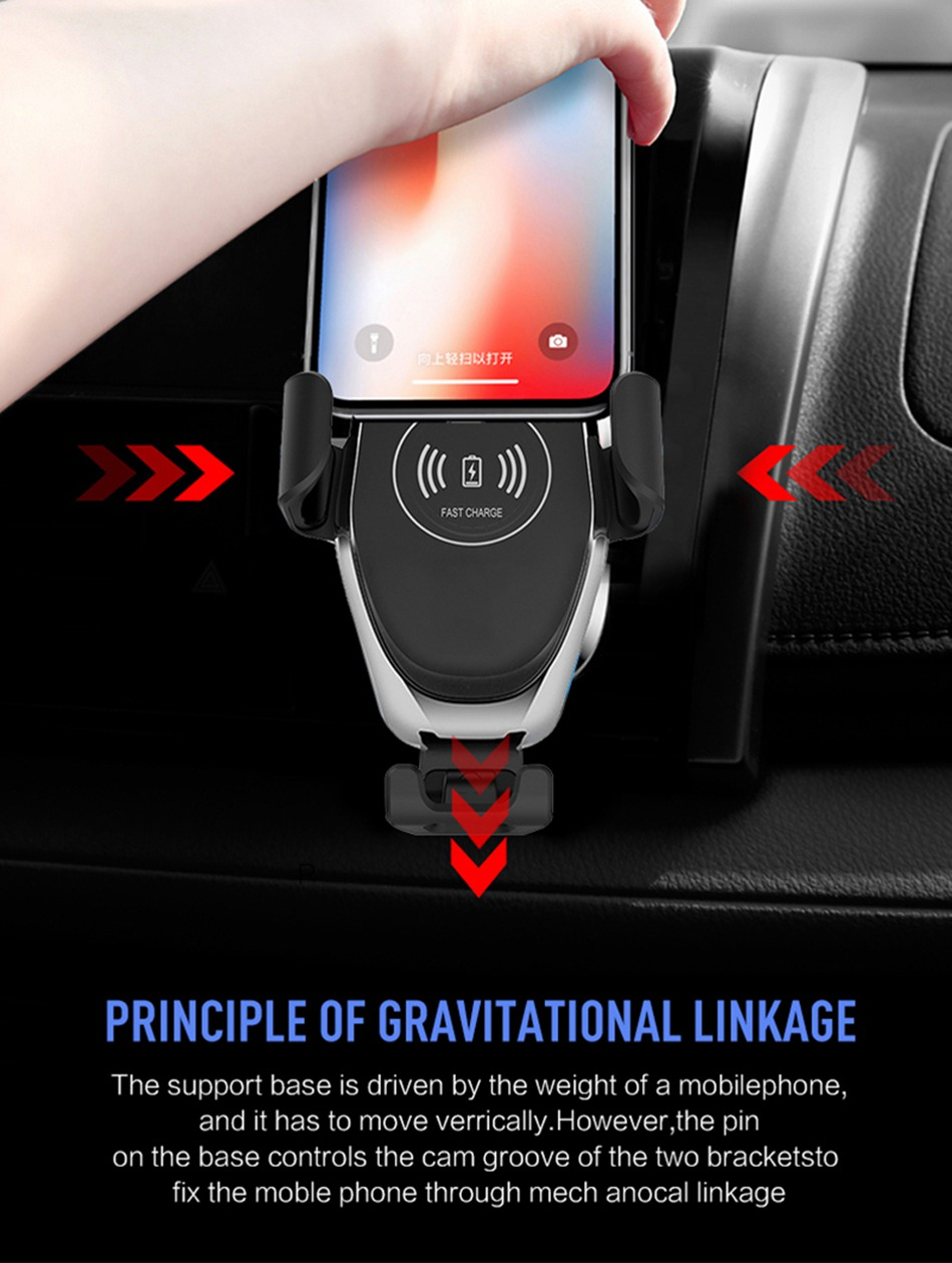 HTB1rxpvLCrqK1RjSZK9q6xyypXaR KISSCASE Gravity Car Wireless Charger For iPhone 8 Plus XR XS Max X Qi Fast Wireless Car Charger For Samsung Galaxy S10 Plus S10