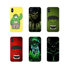 Zubehör Telefon Abdeckung Tasche Marvel Superhelden Hulk Schlank Für Apple iPhone X XR XS MAX 4 4 S 5 5 S 5C SE 6 6 S 7 8 Plus ipod touch 5 6(China)
