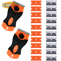 EHDIS Ice Scraper For Car Razor Scraper With 20pcs 1 5 Blades Car Auto Snow Shovel