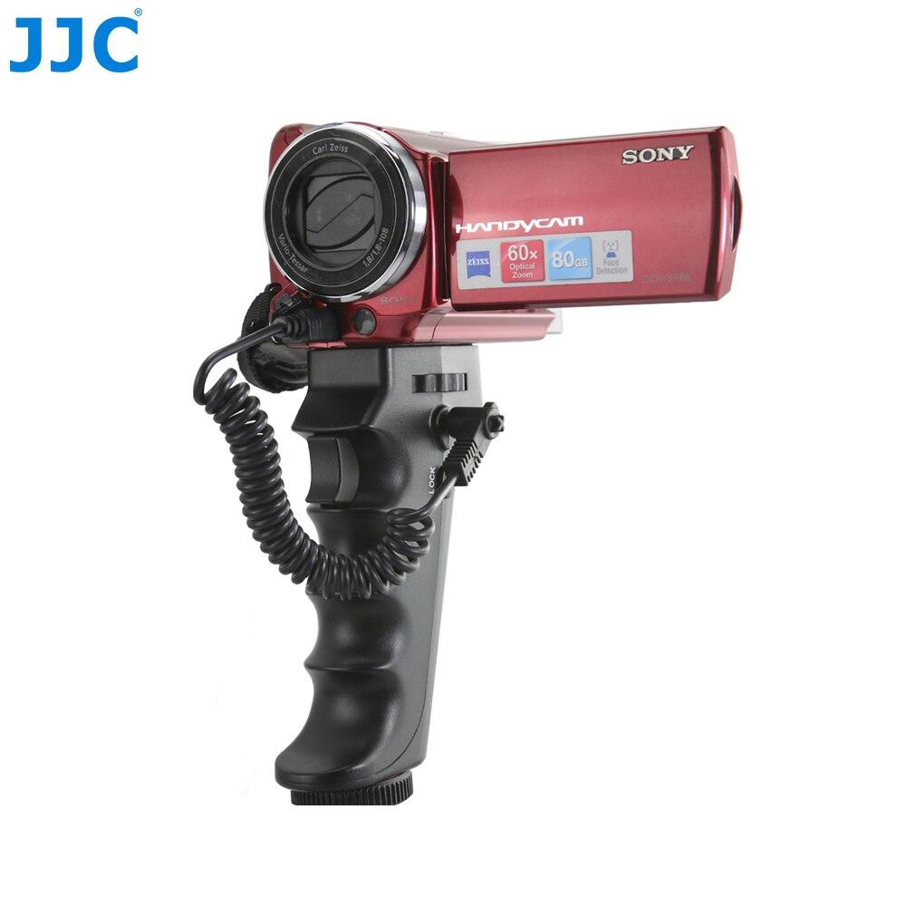 JJC 카메라 DV 핸들 권총 그립 셔터 스탠드 소니 캠코더/V R 또는 LANC 포트 BMPCC HDR-CX190/HDR-CX200
