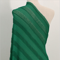 3 Yards Green 3D Stripe Lace Fabric For Dress Fashion Polyester Fabrics Patchwork Accessories Tecidos Para