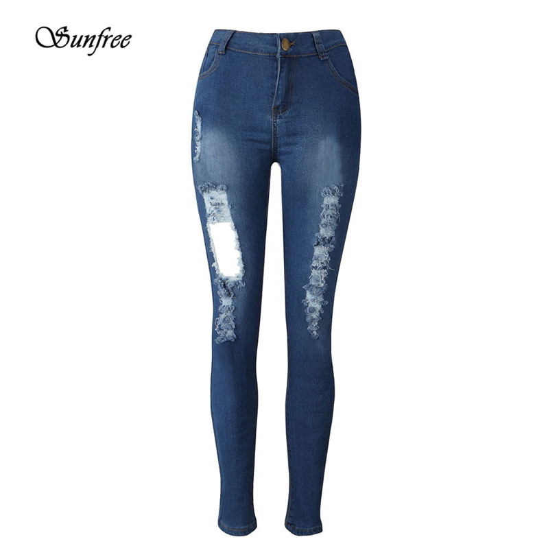 Sunfree 2016 New Womens Denim Skinny Jeans Stretch Pencil Trousers Slim Long Pants Pants Brand New High Quality Dec 6