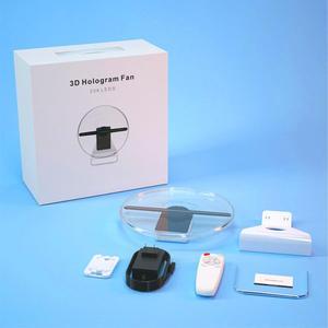 Image 5 - TBDSZ 30cm 3D פרסום הולוגרמה מאוורר מקרן אור תצוגה הולוגרפית נטענת שולחן העבודה הולוגרמה 16GB 256 LED מנורת חרוזים