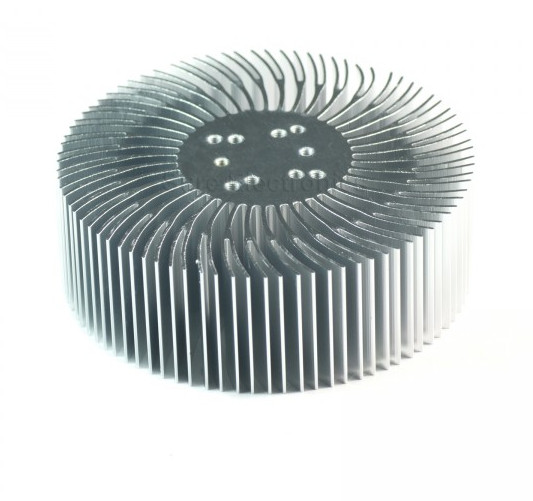 2PCS 3/5 / 10W vysoký výkon slunečnice kruhová chladič LED světlo hliníkový chladič 90 * 30mm šroub pro 1-10W LED odvod tepla