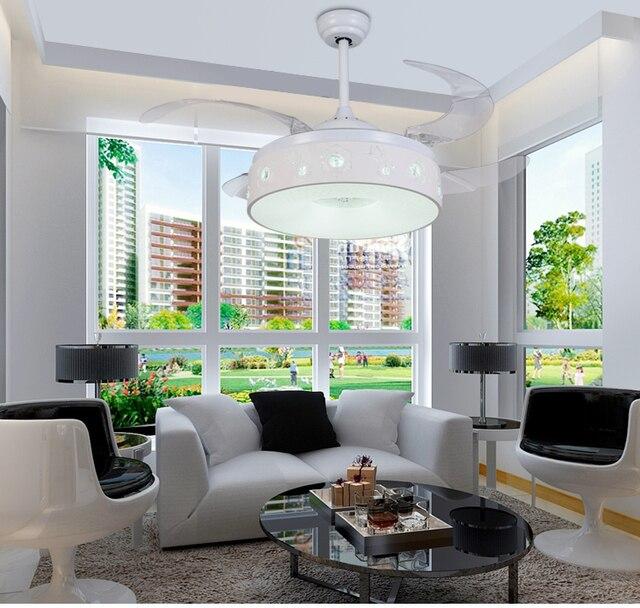 Stealth Deckenventilator Licht Deckenventilator Licht Schlafzimmer  Umwandlung Einfache Modern Home Wohnzimmer Ventilator Led Lampen Mit  Fernbedienung