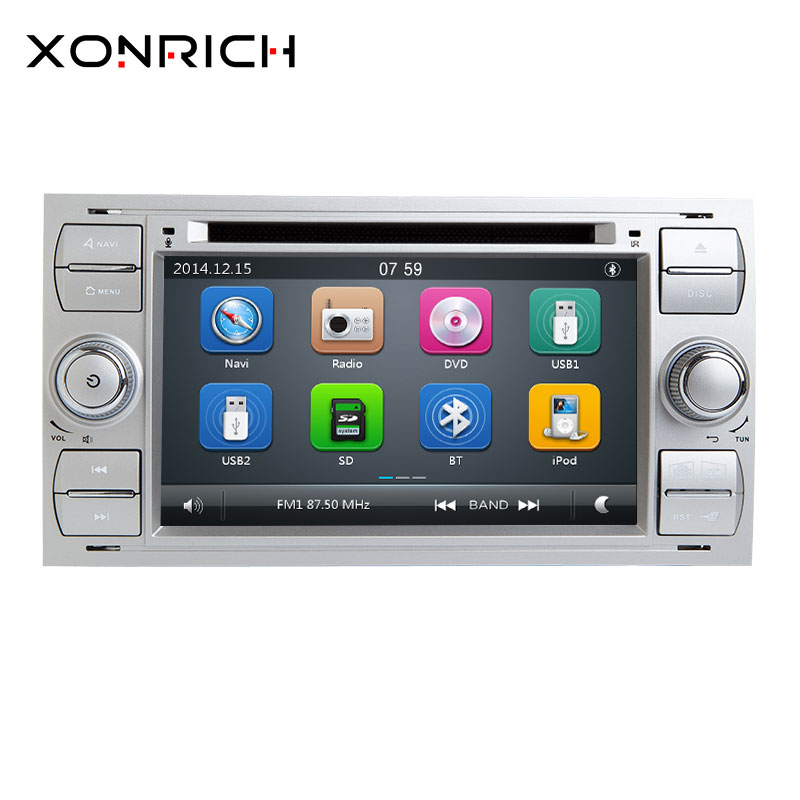 2din Car DVD Player Multimídia Para Ford Fiesta Ford Focus Mondeo 2 4 C-Max S-Max Fusão transit Connect AutoRadio GPS Navigation