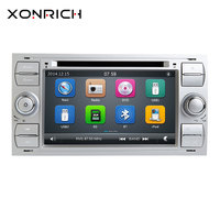 2din Car DVD Player Multimedia For Ford Fiesta Ford Focus 2 Mondeo 4 C Max S Max Fusion Transit Connect AutoRadio GPS Navigation