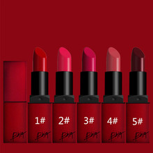 5 colors  Korean brand matte lipstick waterproof and long lasting beauty lips just like ruby woo and diva Lipsticks