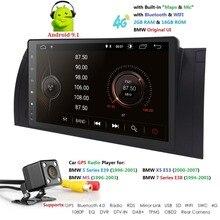 9 pollici 1024×600 HD Touch Screen 1 din Android 9.0 Car Multimedia Radio Stereo per BMW E39 E53 X5 wifi 4G Bluetooth DVR RDS USB SWC