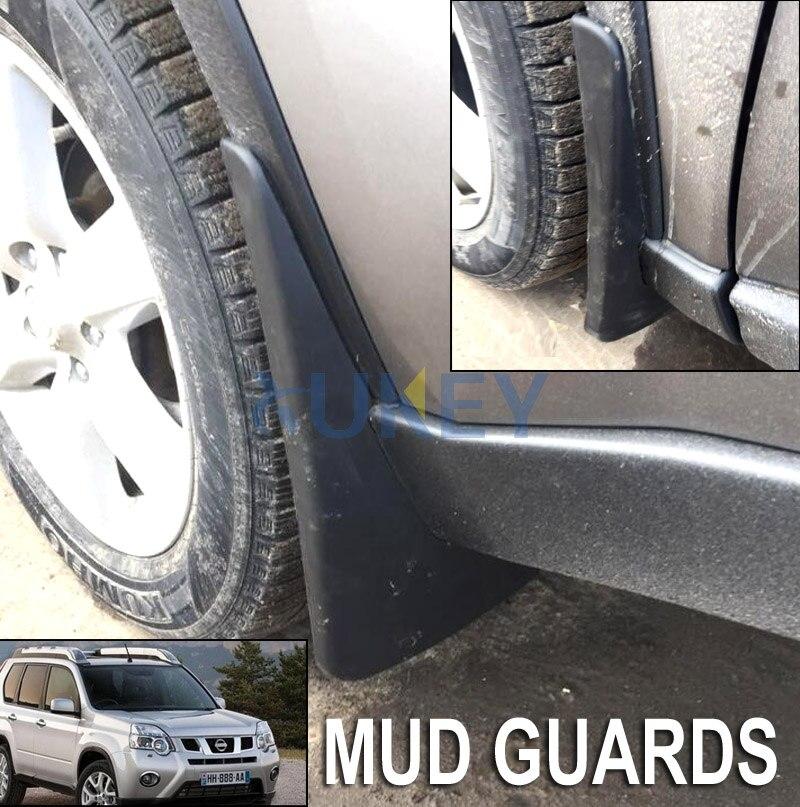 Set Molded Car Mud Flaps For Nissan X-Trail T31 2008-2013 Xtrail Splash Guards Mud Flap Mudguards Fender 2009 2010 2011 2012 gear shift
