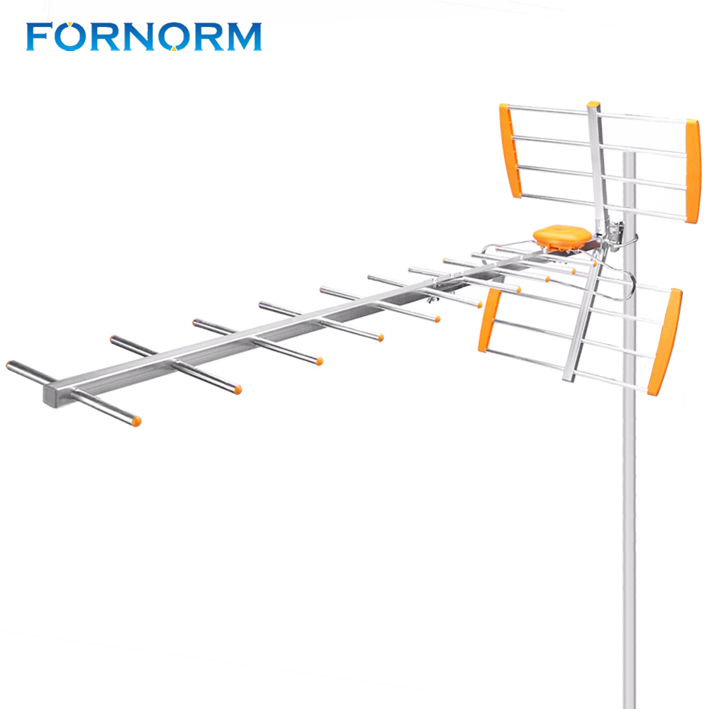 FORNORM HDTV Digital Outdoor TV Antenna For HDTV High Gain Strong Signal Digital Amplified Outdoor Attic Roof HDTV Antenna