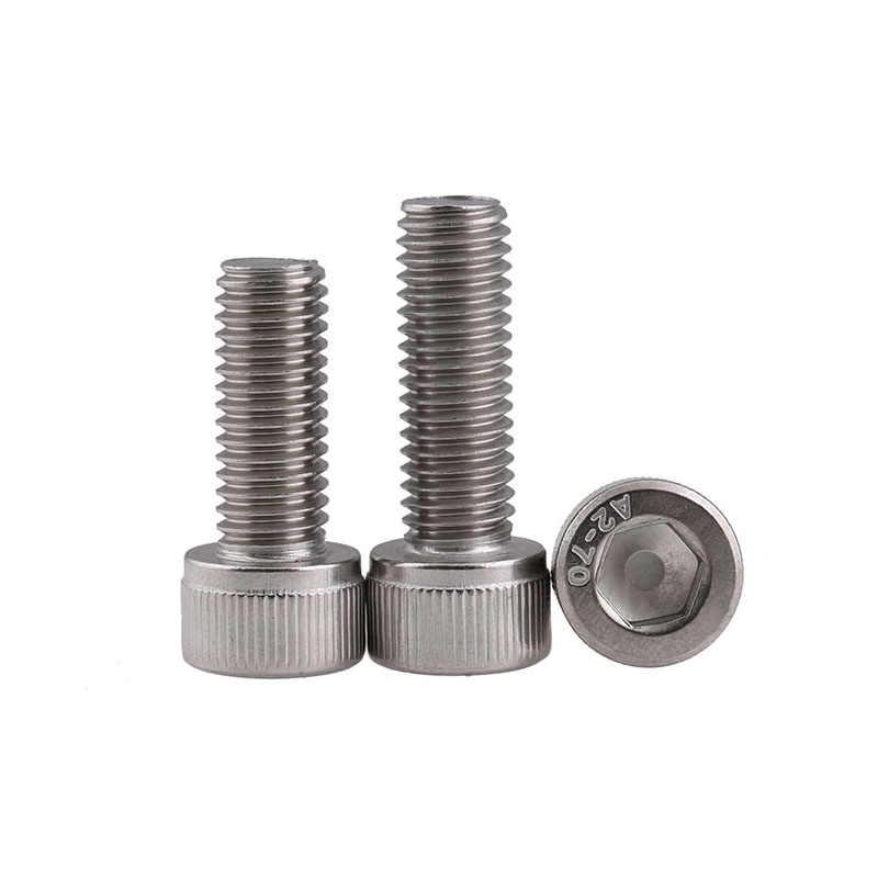 50 pcs เมตริกด้าย DIN912 M3 304 สแตนเลสสตีล Hex Socket Head Cap สกรูสกรู M3 * (4/ 5/6/8/10/12/14/16/18/20/22/ 25/30/35/40)