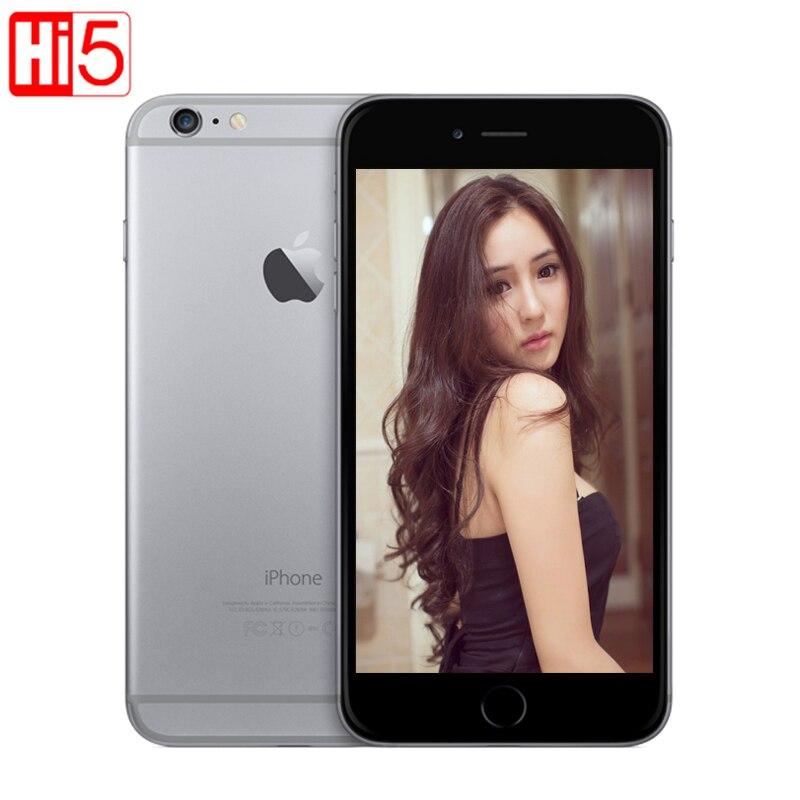 Tela desbloqueada 16g/64 gb/4.7 gb da tela de wifi 128 do iphone 6 da apple rom o núcleo duplo ios 8mp câmera 1080 p 4 k video lte telefone móvel