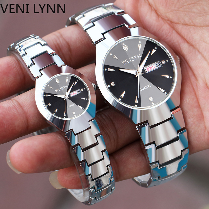 VENI LYNN 2019 High Quality Men's Luminous Waterproof Wrist Watch Fashion Casual Gold Quartz Watches Women Couple