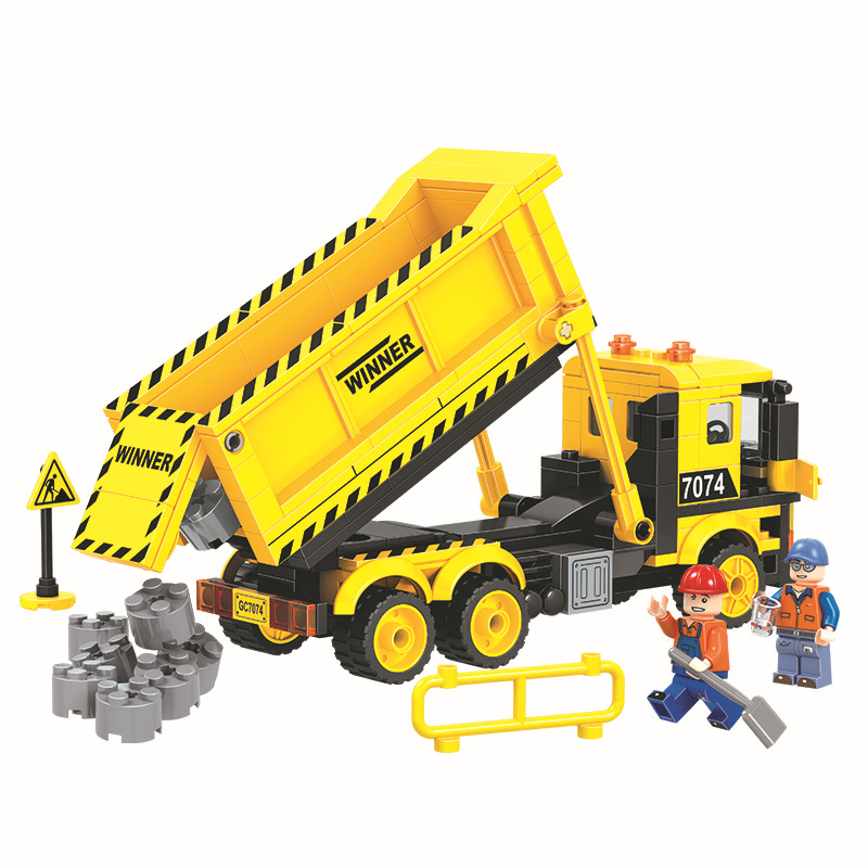WEILE City Construction Dump Truck Building Blocks Sets Bricks Model Kids Gifts Toys Compatible Legoings weile technic city snowmobile model building blocks sets bricks kids classic toys gifts for children compatible legoings car