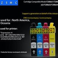 20 piezas compatible EPSON 200XL cartucho de tinta t2001 t2002 t2003 t2004 para XP-100/200/300/310/400 /410 FUERZA DE WF-2510/2520/2530