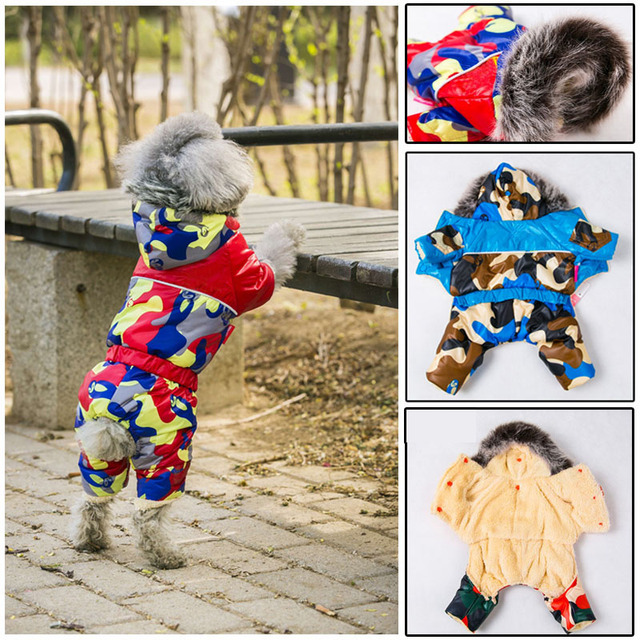 Pet Dog Clothes for Small Dogs Waterproof Fabric Dog Coat Thickening Dog Jacket Super Warm Snow Coat Clothing For Pet Chihuahua