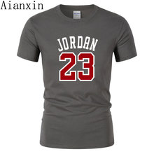 b63065dfc AIANXIN lato Hot sprzedaż nowy Tee Jordan 23 druku mężczyzn Swag koszulka  najwyższej jakości bawełny Jordan