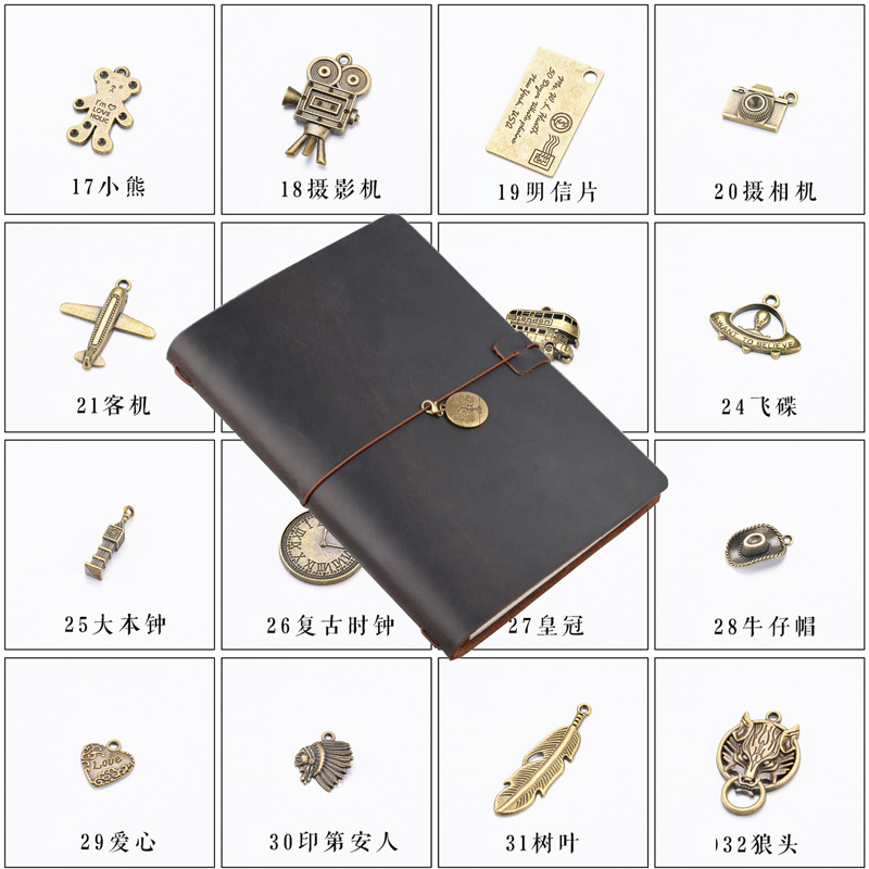 Notebook Accessories Retro Traveler Journal Pendant Metal Vintage Decoration For Midori Planner Diary Accessoriy