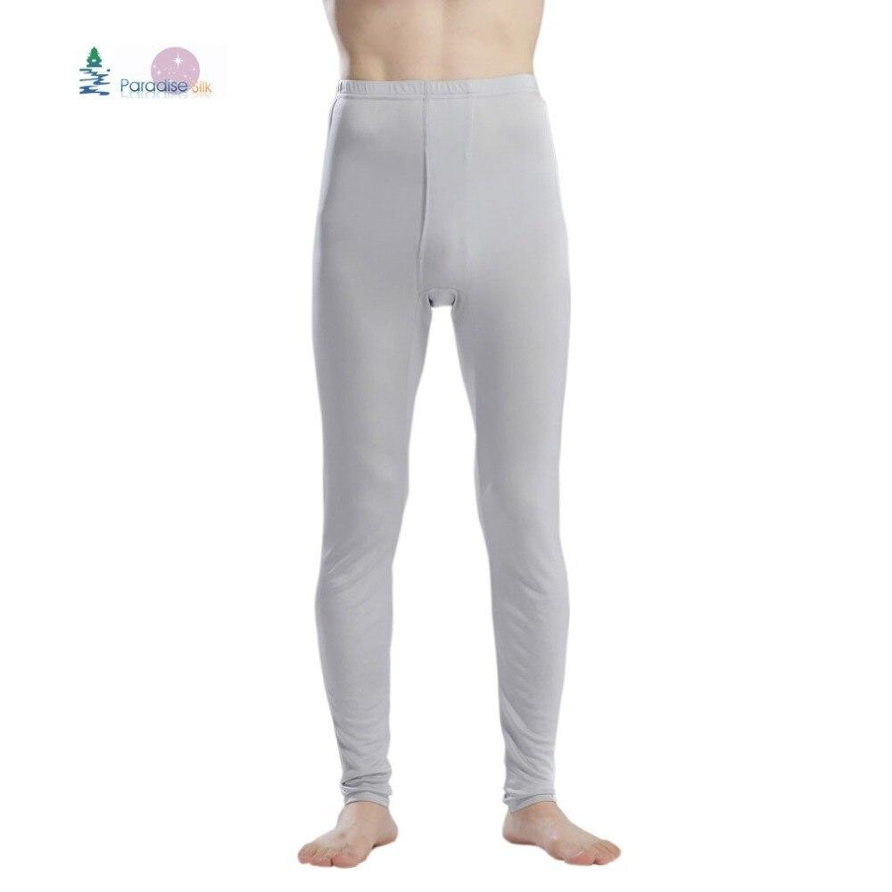 100% puro seda Jersey de punto de los hombres largo Johns fondo sólo tamaño L, XL, XXL