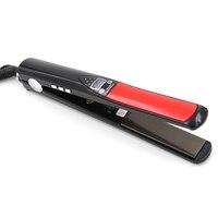 Professional Hair Straightener Titanium Plates 30s Fast Heating Flat Iron LED Display Straightening Irons Hair Styling
