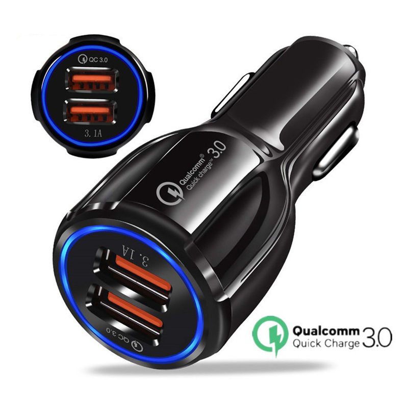 <font><b>USB</b></font> <font><b>Car</b></font> <font><b>Charger</b></font> Quick 3.0 2.0 Mobile Phone <font><b>Charger</b></font> for iphone X Fast <font><b>Car</b></font> <font><b>Charger</b></font> for <font><b>Samsung</b></font> Xiaomi HTC Tablets <font><b>Charger</b></font> image
