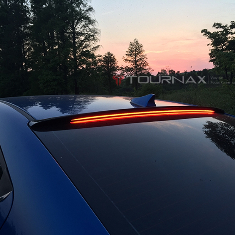 use for hyundai elantra 2016-2018 spoiler elantra spoiler with LED light High Quality ABS Material Car Rear Wing black spoiler все цены