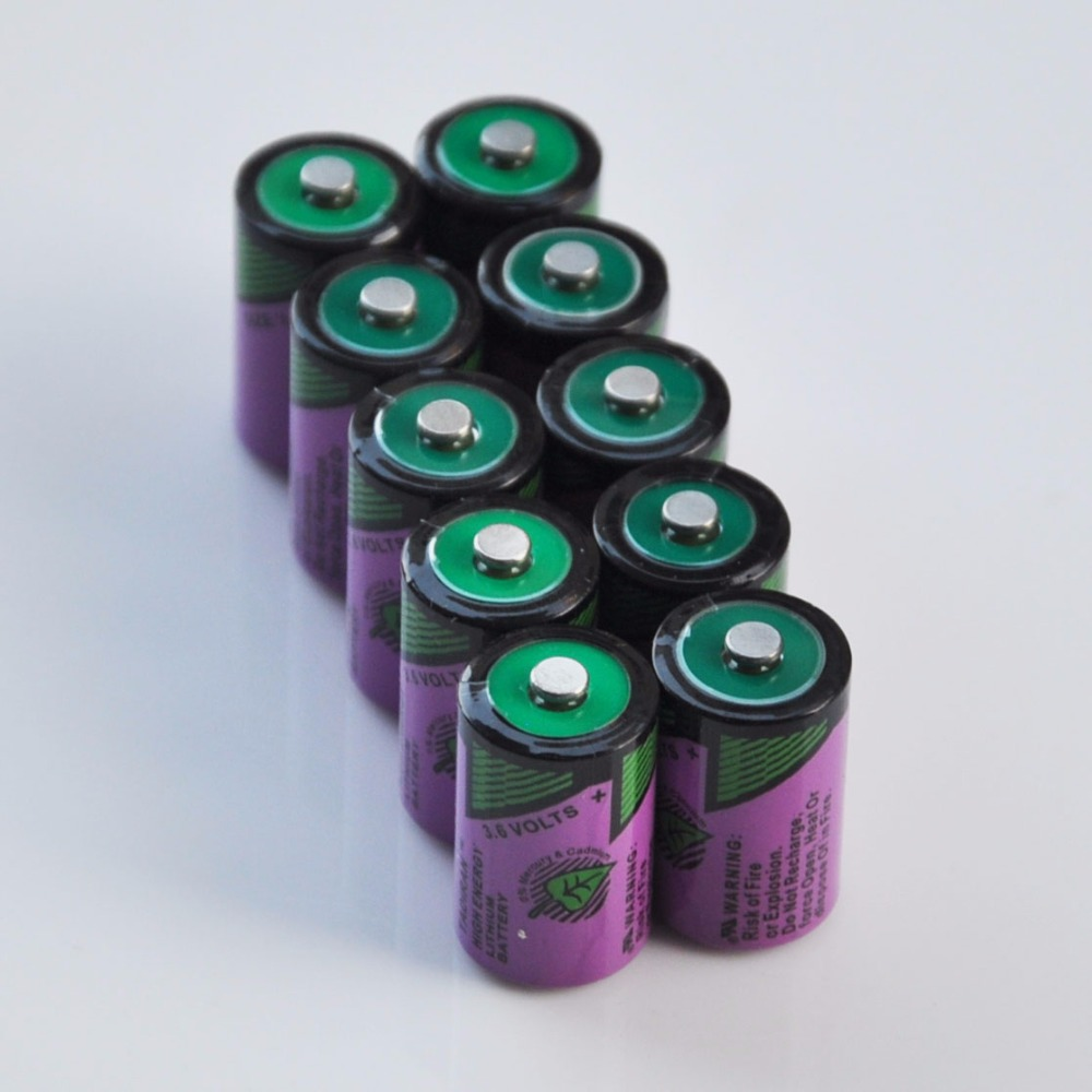 10PCS ER14250 <font><b>1/2AA</b></font> 3.6V liSOCL2 lithium primary <font><b>battery</b></font> 14250 1/2 AA cell replace for Tadiran TL-5902 gas water meter image