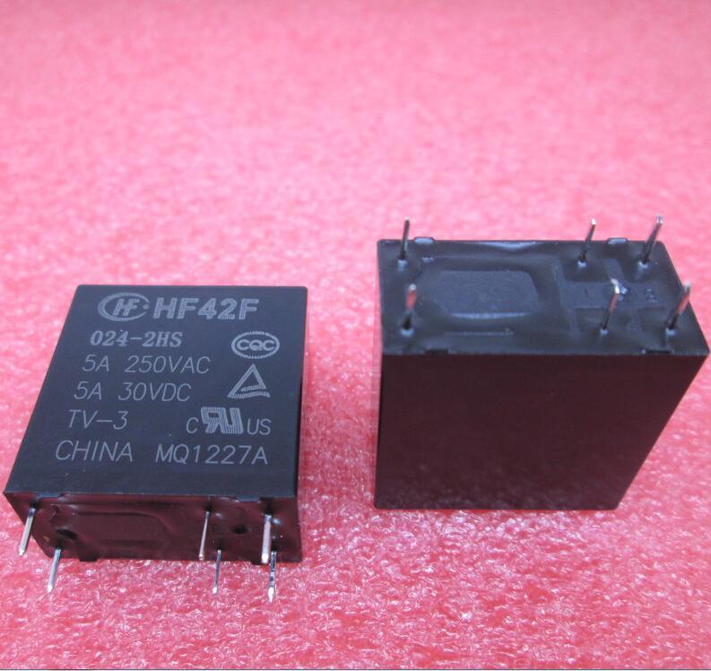 NEW Relay HF42F 024-2HS HF42F-024-2HS JZC-42F 024-2HS JZC-42F-024-2HS 24VDC DC24VC 24V DIP6
